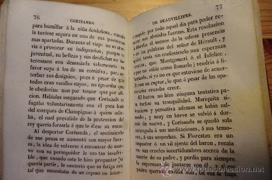 Libros de segunda mano: CORISANDA DE BEAUVILLIERS, TOMO 2. BARCELONA 1842. CON GRABADOS AL INICIO, 234 PAGINAS - Foto 4 - 31336037