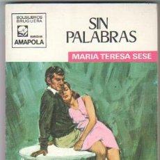 Libros de segunda mano: AMAPOLA Nº 943 EDI. BRUGUERA 1970 MARIA TERESA SESE - JORGE SAMPER PORTADA. Lote 32764306