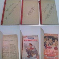 Libros de segunda mano: LOTE 160 -3 LIBROS NOVELA ROSA ALCOTT - MAS COSAS DE MUJERCITAS HOMBRECITOS QUE FUE DE NUESTROS. Lote 34737080