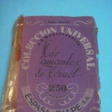 Libros de segunda mano: HARTZENBUSCH. LIBRO ANTIGUO DE LOS AMANTES DE TERUEL. ESPASA CALPÉ, MADRID 1943. COLECCIÓN UNIVERSAL. Lote 34861651