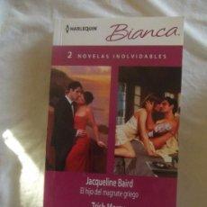 Libros de segunda mano: NOVELA ROMANTICA - HARLEQUIN BIANCA - 2 NOVELAS INOLVIDABLES DE DISTINTOS AUTORES . Lote 35689682