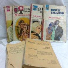 Libros de segunda mano: CORIN TELLADO SELECCIÓN.- AÑO 1966-69.-LOTE DE 6 NOVELAS.. Lote 133522333