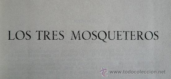 Libros de segunda mano: ---------- LOS TRES MOSQUETEROS ------------- ALEJANDRO DUMAS - Foto 4 - 36355662