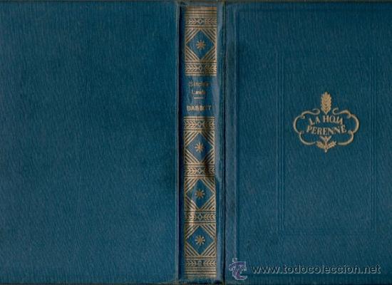 SINCLAIR LEWIS BABBITT MATEU EDITOR BARCELONA COLECCION LA HOJA PERENNE (Libros de Segunda Mano (posteriores a 1936) - Literatura - Narrativa - Novela Romántica)