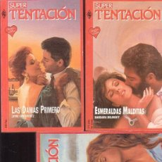 Libros de segunda mano: SUPER TENTACION, LOTE 5 NOVELAS ROMANTICAS -EDITA : HARLEQUIN AÑOS 80. Lote 38370020