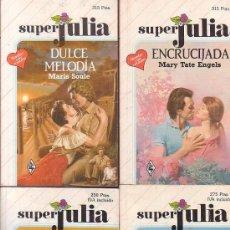 Libros de segunda mano: SUPER JULIA , LOTE 4 NOVELAS ROMANTICAS -EDITA : HARLEQUIN AÑOS 80. Lote 38370993