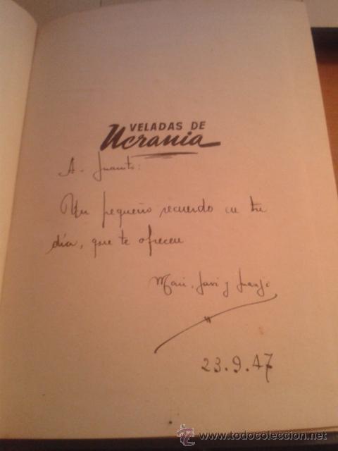 Libros de segunda mano: Veladas de Ucrania Nicolás V. Gogol Hispano Americana de Ediciones año 1947 - Foto 2 - 38965087