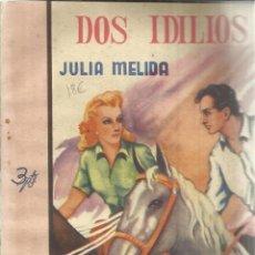 Libros de segunda mano: DOS IDILIOS. JULIA MELIDA. EDICIONES MARISAL. MADRID. 1943. Lote 39873331