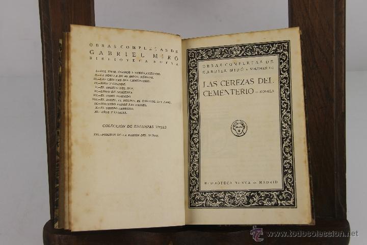 Libros de segunda mano: 4349- OBRAS COMPLETAS DE GABRIEL MIRO. EDIT. BIBLIOTECA NUEVA, S/F. 8 TITUOS. - Foto 2 - 152425228