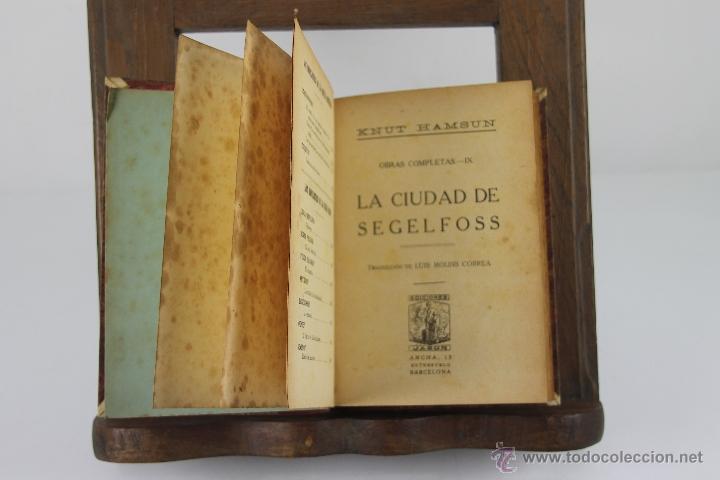 4354- KNUT HAMSUN. COLECCION DE 6 TITULOS. VARIAS EDITORIALES Y TITULOS. AÑOS 30/40. (Libros de Segunda Mano (posteriores a 1936) - Literatura - Narrativa - Novela Romántica)