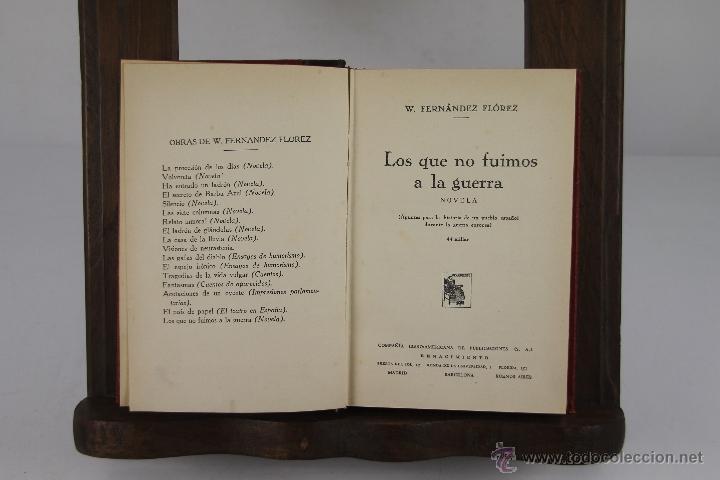 Libros de segunda mano: 4355- WENCESLAO FERNANDEZ FLOREZ. COLECCION DE 14 TITULOS. VARIAS EDIT. Y TITULOS AÑOS 30/40. - Foto 4 - 41260917