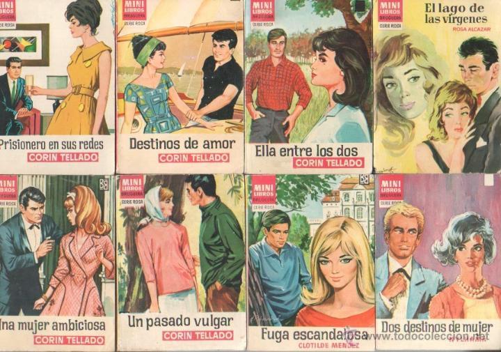 MINI LIBROS BRUGUERA SERIE ROSA - CORIN TELLADO, ROSA ALCAZAR,NYLHAMA,CLOTILDE MENDEZ (Libros de Segunda Mano (posteriores a 1936) - Literatura - Narrativa - Novela Romántica)