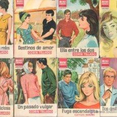 Libros de segunda mano: MINI LIBROS BRUGUERA SERIE ROSA - CORIN TELLADO, ROSA ALCAZAR,NYLHAMA,CLOTILDE MENDEZ. Lote 173806004