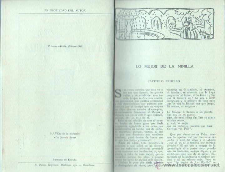 Libros de segunda mano: LA NOVELA ROSA Nº 12 EDI. JUVENTUD 1940 - Nº DOBLE - J.AGUILAR CATENA - LO MEJOR DE LA MINILLA - Foto 2 - 46003452