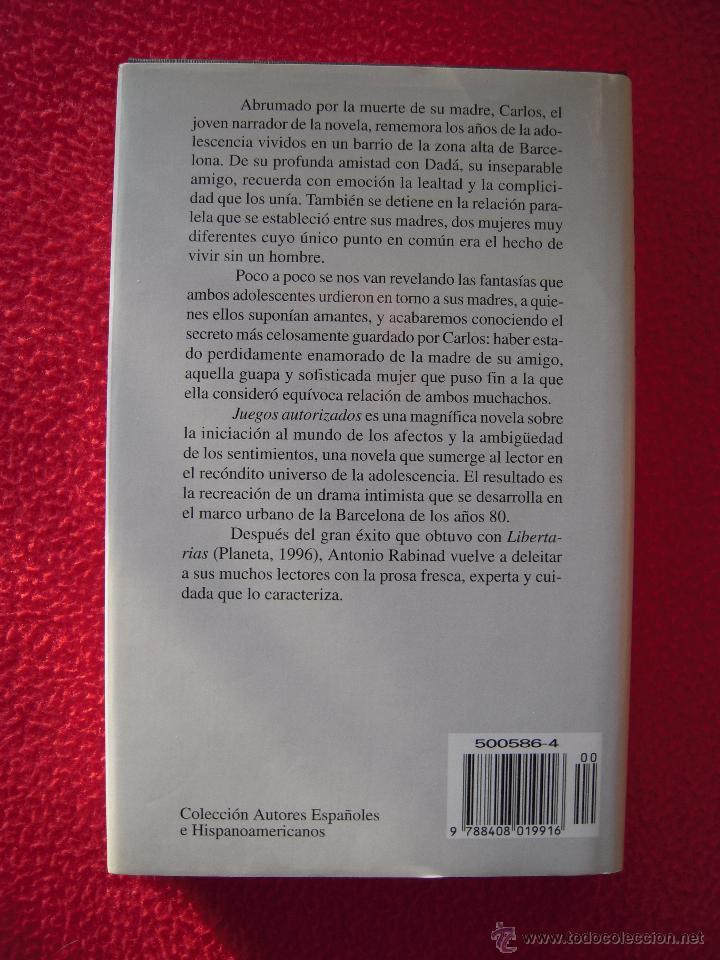 Libros de segunda mano: JUEGOS AUTORIZADOS - ANTONIO RABINAD - Foto 2 - 47619557