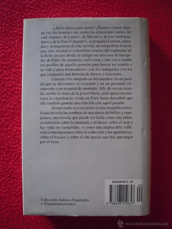 Libros de segunda mano: DONDE NADIE NOS ENCUENTRE - LOURDES FERNANDEZ VENTURA - Foto 2 - 47619716