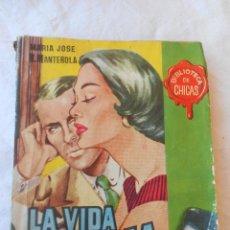 Libros de segunda mano: 2 NOVELAS. ÁNGEL Y DEMONIO Y LA VIDA QUEMA. NÚMEROS 109 Y 113 BIBLIOTECA DE CHICAS. 1956. Lote 50787041