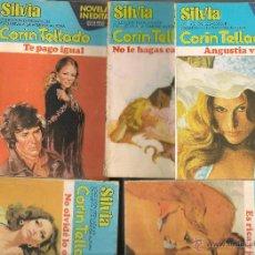 Libros de segunda mano: SILVIA. CORIN TELLADO. LOTE 100 NOVELAS. BRUGUERA.. Lote 53278833