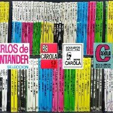 Libros de segunda mano: LOTE 208 NOVELAS ROMÁNTICAS CARLOS DE SANTANDER SELECCIÓN / COLECCIÓN CAROLA / BRUGUERA / AÑOS 60-70. Lote 53457518