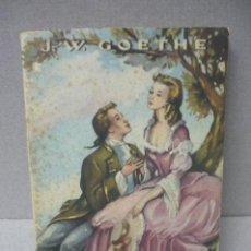 Libros de segunda mano: WERTHER J. W GOETHE EDIT BRUGUERA COLECCION JOYAS LITERARIAS. Lote 54263080