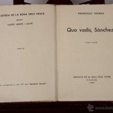 Libros de segunda mano: 6679 - EDICIONS DE LA ROSA DELS VENTS. 47 EJEM.(VER DESCRIP). JOSEP JANÉS OLIVÉ. 1937.. Lote 50045997