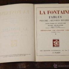 Libros de segunda mano: 6435 - LA FONTAINE. ROGER DELBIAUSSE. ÉDITIONS NATIONALES. 1947.. Lote 49647599