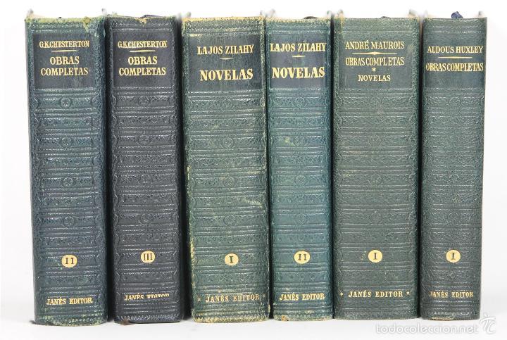 4169 - EDITOR JOSÉ JANÉS. 6 VOLUMENES. VV. AA.(VER DESCRIP). 1950-1952. (Libros de Segunda Mano (posteriores a 1936) - Literatura - Narrativa - Novela Romántica)