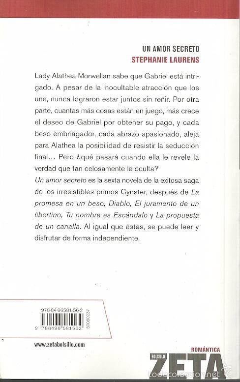Libros de segunda mano: Stephanie Laurens-Un Amor Secreto.2007. - Foto 2 - 56676142