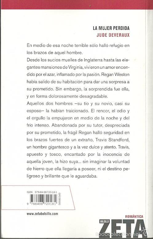 Libros de segunda mano: Jude Deveraux-La mujer perdida.Ediciones B.Romántica Zeta.2008. - Foto 2 - 56676176