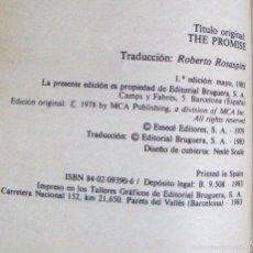 Libros de segunda mano: LA PROMESA DANIELLE STEEL COL NARANJA BRUGUERA 1983 ¡OFERTA MAS DE 3 LIBROS DESCUENTO 30%!. Lote 57864209