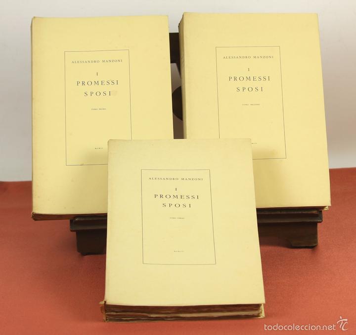7760 - I PROMESSI SPOSI. A. MANZONI. TOMOS I, II Y III(VER DESCRIP). IMP. A. TALLONE. 1951/52. (Libros de Segunda Mano (posteriores a 1936) - Literatura - Narrativa - Novela Romántica)