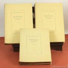Libros de segunda mano: 7760 - I PROMESSI SPOSI. A. MANZONI. TOMOS I, II Y III(VER DESCRIP). IMP. A. TALLONE. 1951/52.. Lote 57965859