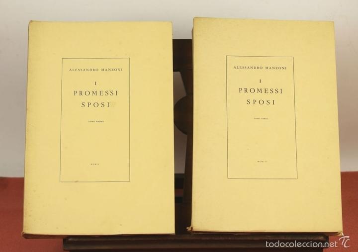 Libros de segunda mano: 7760 - I PROMESSI SPOSI. A. MANZONI. TOMOS I, II Y III(VER DESCRIP). IMP. A. TALLONE. 1951/52. - Foto 2 - 57965859