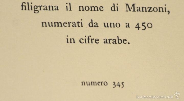 Libros de segunda mano: 7760 - I PROMESSI SPOSI. A. MANZONI. TOMOS I, II Y III(VER DESCRIP). IMP. A. TALLONE. 1951/52. - Foto 6 - 57965859