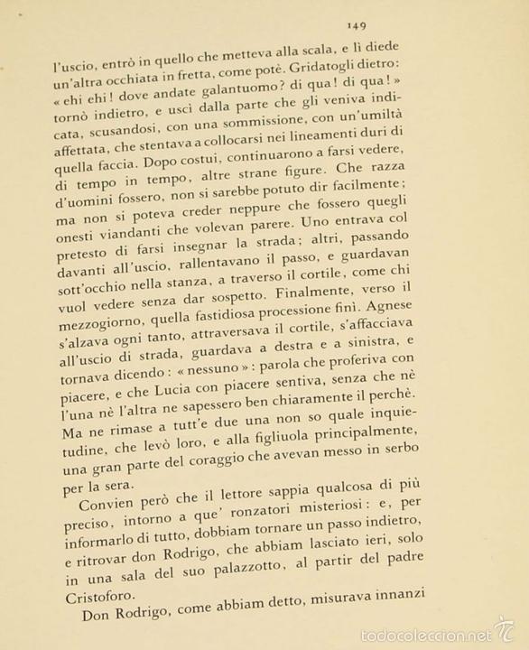 Libros de segunda mano: 7760 - I PROMESSI SPOSI. A. MANZONI. TOMOS I, II Y III(VER DESCRIP). IMP. A. TALLONE. 1951/52. - Foto 8 - 57965859