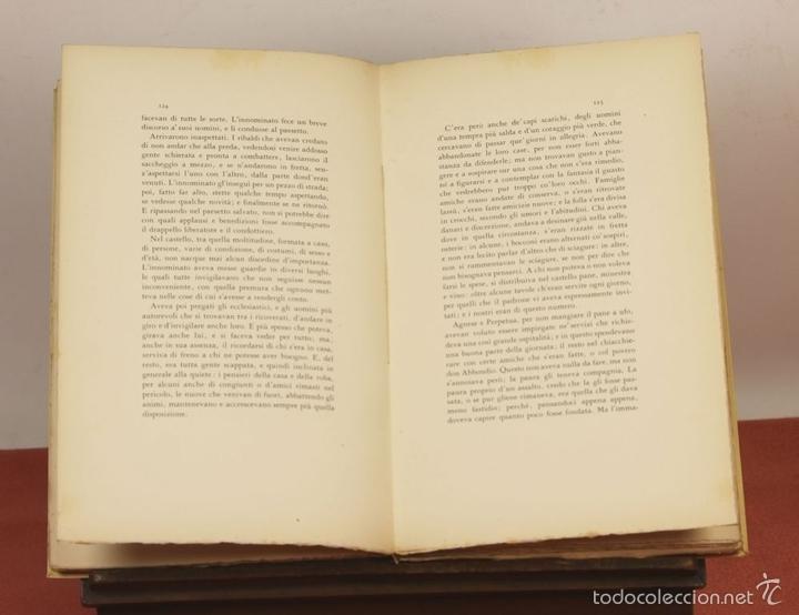 Libros de segunda mano: 7760 - I PROMESSI SPOSI. A. MANZONI. TOMOS I, II Y III(VER DESCRIP). IMP. A. TALLONE. 1951/52. - Foto 10 - 57965859