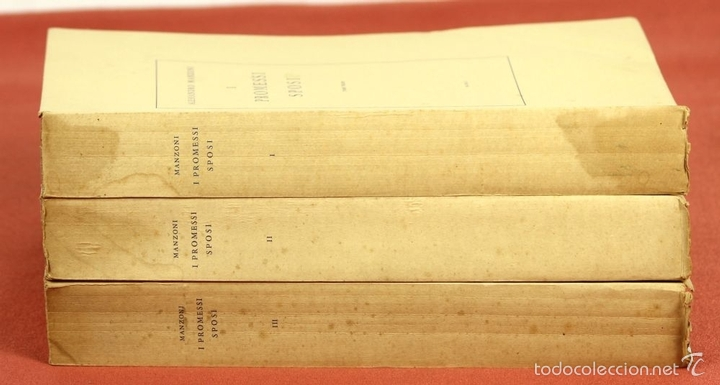 Libros de segunda mano: 7760 - I PROMESSI SPOSI. A. MANZONI. TOMOS I, II Y III(VER DESCRIP). IMP. A. TALLONE. 1951/52. - Foto 12 - 57965859