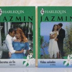 Libros de segunda mano: LOTE JAZMIN *** COLECCION HARLEQUIN *** SECRETOS SIN FIN + VIDAS SOÑADAS ***. Lote 58094608