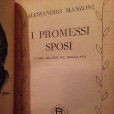Libros de segunda mano: PROMESSI SPOSI ALESSANDRO MANZANO. Lote 64915629