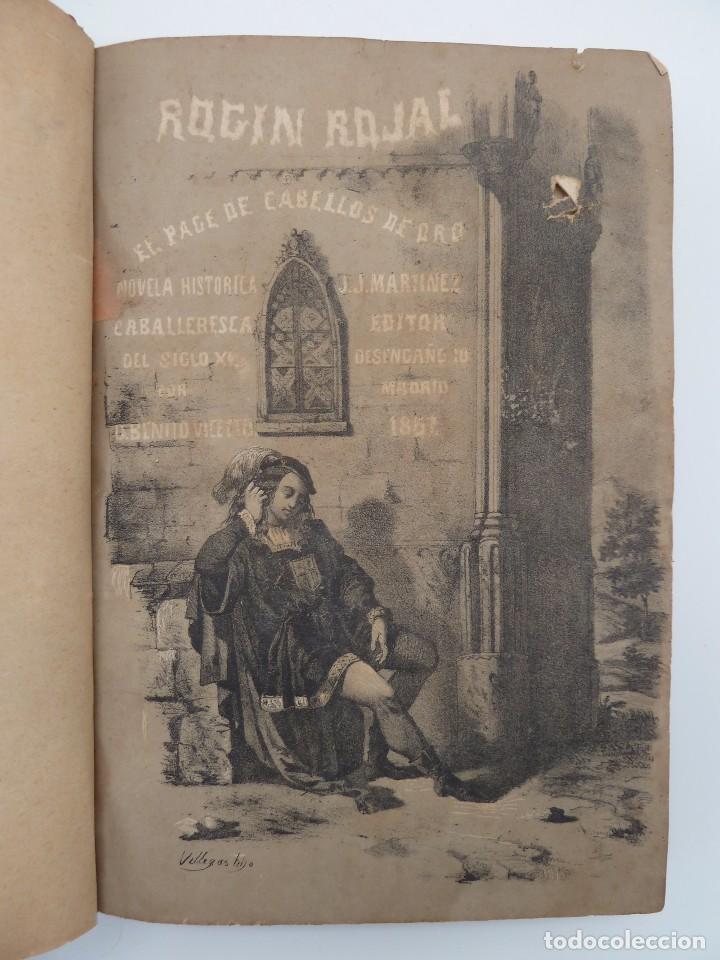 ROGIN ROJAL EL PAGE DE LOS CABELLOS DE ORO (BENITO VICETTO) J.J. MARTÍNEZ 1857. NOVELA CABALLERESCA (Libros de Segunda Mano (posteriores a 1936) - Literatura - Narrativa - Novela Romántica)
