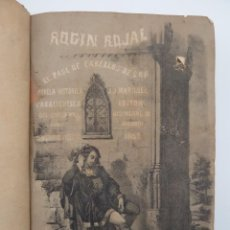 Libros de segunda mano: ROGIN ROJAL EL PAGE DE LOS CABELLOS DE ORO (BENITO VICETTO) J.J. MARTÍNEZ 1857. NOVELA CABALLERESCA. Lote 67343037