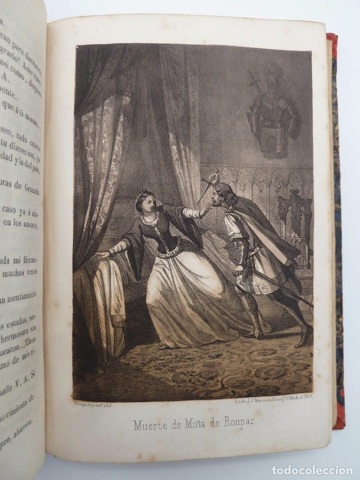 Libros de segunda mano: ROGIN ROJAL EL PAGE DE LOS CABELLOS DE ORO (Benito Vicetto) J.J. Martínez 1857. Novela caballeresca - Foto 9 - 67343037