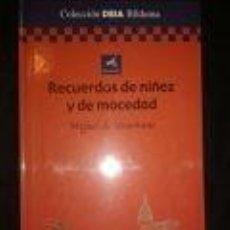 Libros de segunda mano: RECUERDOS DE NIÑEZ Y DE MOCEDAD MIGUEL DE UNAMUNO -COLECCIÓN DIA BILDUMA. Lote 73561403