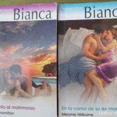 Libros de segunda mano: NOVELA BIANCA HARLEQUIN. 2 NOVELAS. Lote 74330099