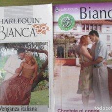 Libros de segunda mano: NOVELA BIANCA HARLEQUIN. 2 NOVELAS. Lote 74330427