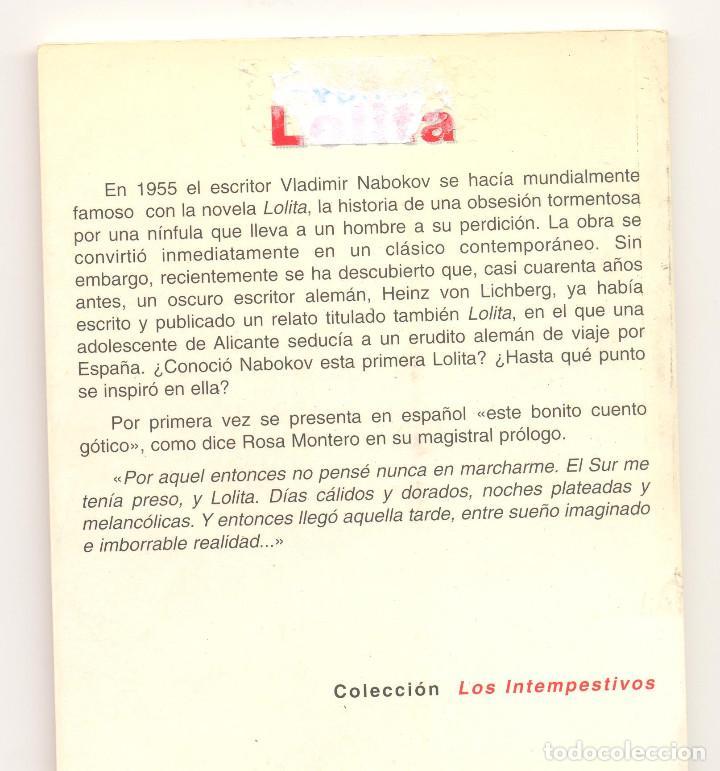 Libros de segunda mano: LOLITA -Heinz von Lichberg- Prólogo de Rosa Montero. Primera edición. - Foto 2 - 74708683