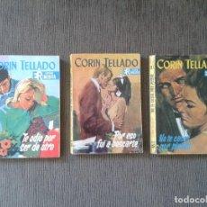 Libros de segunda mano: LOTE 3 EJEMPLARES - CORÍN TELLADO, SERIE INÉDITA - EDITORIAL ROLLÁN, 1967- ANTIGUA NOVELA ROSA -. Lote 75646239