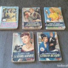 Libros de segunda mano: LOTE 5 EJEMPLARES - COLECCIÓN MADREPERLA - EDITORIAL BRUGUERA, 1950 - ANTIGUA NOVELA ROSA -. Lote 75647247