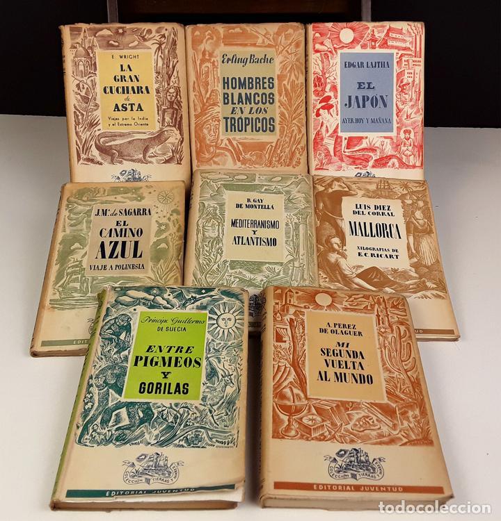 COLECCIÓN TIERRAS Y MARES. 8 VOLÚMENES. (VER DESCRIPCIÓN). VV. AA. EDIT. JUVENTUD. 1942/1943. (Libros de Segunda Mano (posteriores a 1936) - Literatura - Narrativa - Novela Romántica)