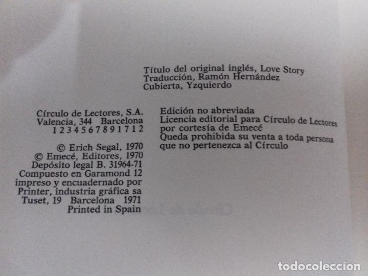 Libros de segunda mano: LOVE STORY- (HISTORIA DE AMOR)-ERICH SEGAL-CIRCULO DE LECTORES-1970-TAPAS DURAS - Foto 4 - 83697000